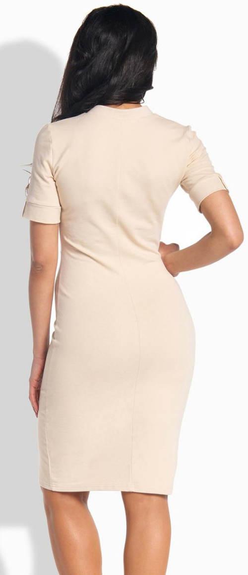 Béžové dámské šaty Lemoniade L191