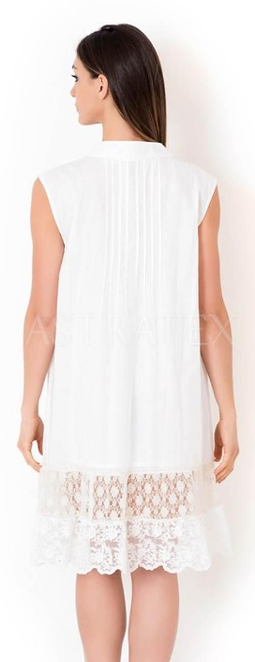 Bílé košilové šaty s krajkou