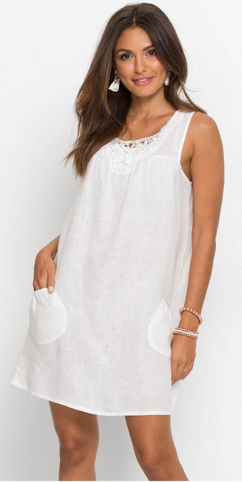 Bílé letní šaty s krajkou
