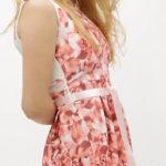 Bílo-růžové květované šaty