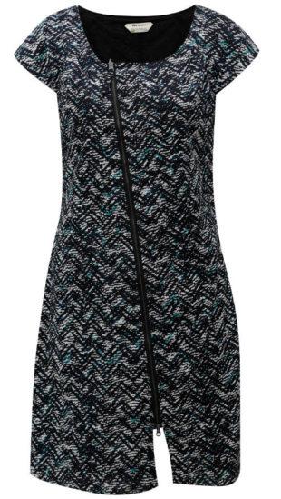 Celorozpínací šaty s asymetrickým zipem
