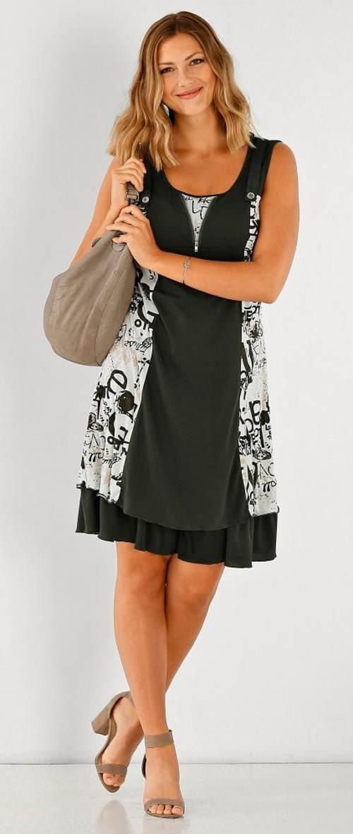 3c20d9cd7 Černobílé letní šaty pro plnoštíhlé