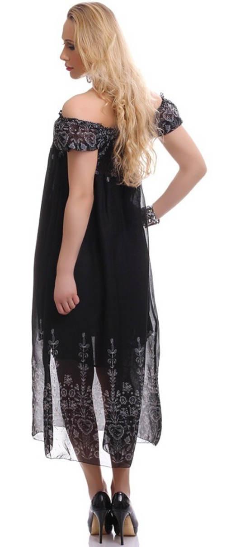Dlouhé černé letní šaty