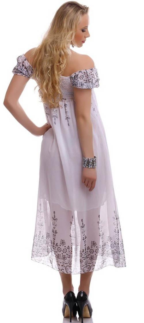 Dlouhé letní šifónové šaty