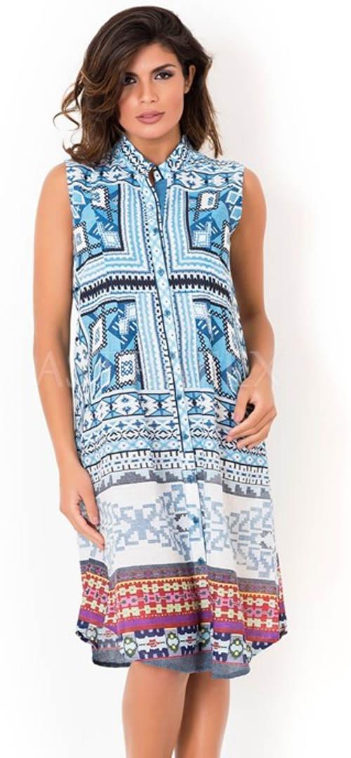 Košilové šaty s knoflíkovou légou