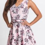 Květované žerzejové šaty s kolovou sukní