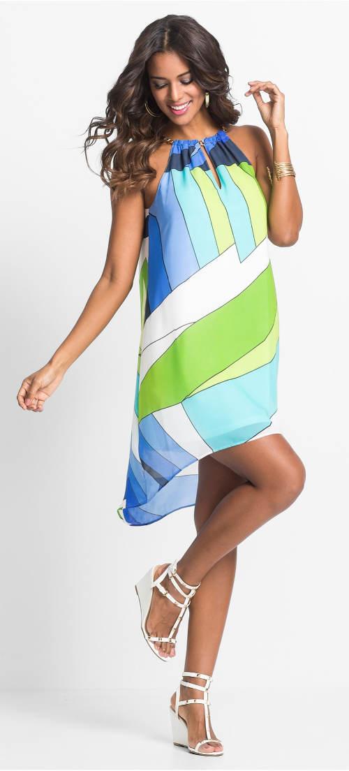 Lehounké šifónové šaty na dovolenou