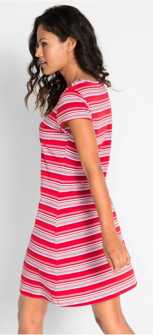 Levné pruhované letní šaty
