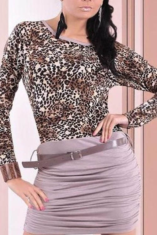 Minišaty s řasenou sukní