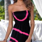 Plážové šaty bez ramínek - lze nosit jako sukni