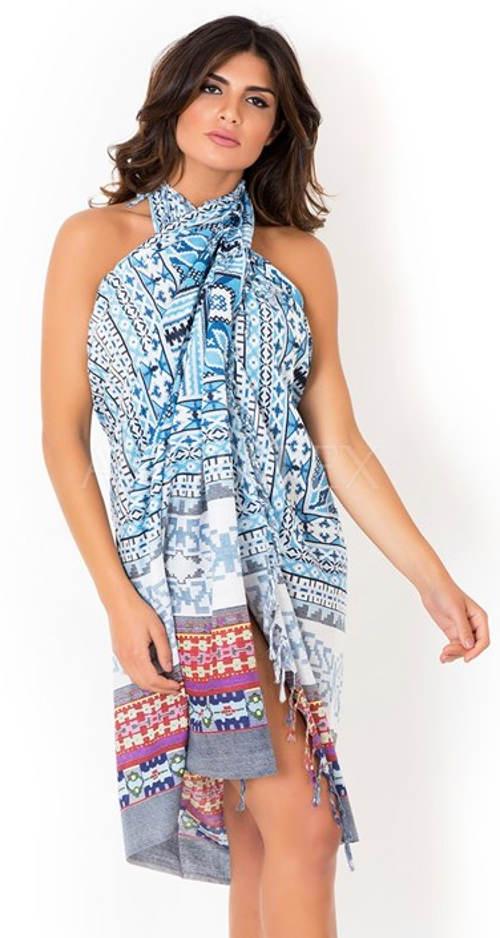 Plážový pareo šátek přes plavky