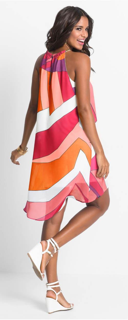 Pruhované barevné letní šaty