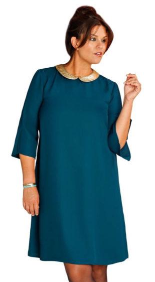 Rozšířené šaty s límečkem pro starší