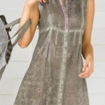 Šedé lehce batikované letní šaty