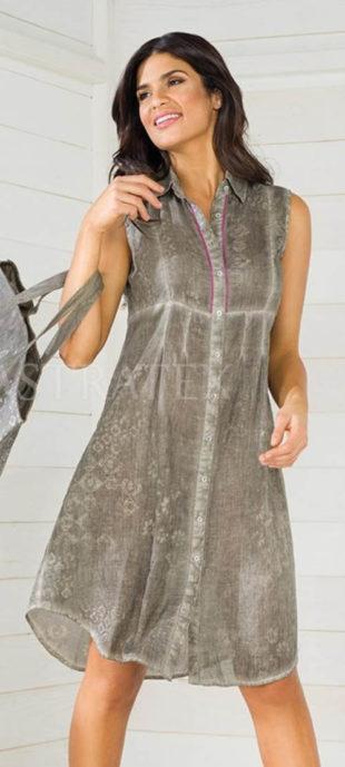 366e5b938ef4 Šedé lehce batikované letní šaty