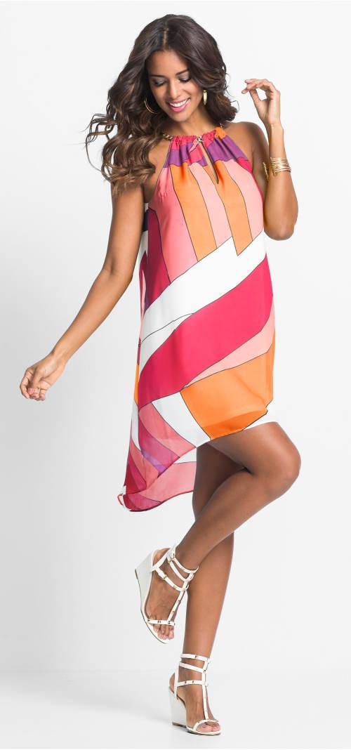 Šifonové šaty přes plavky