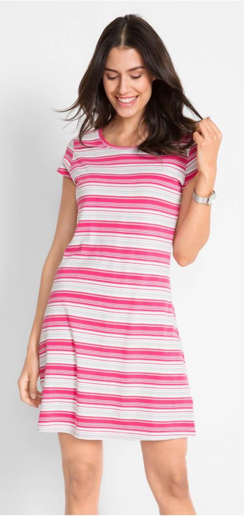 Strečové bavlněné letní šaty