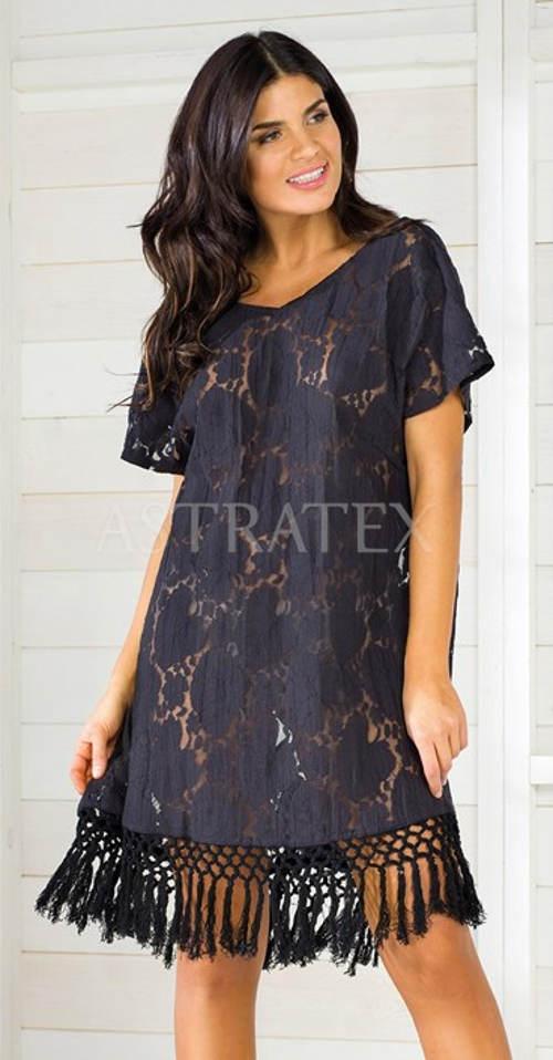 398703dfa9d9 Italské plážové šaty s třásněmi