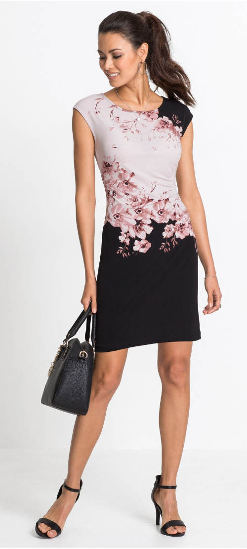Květinové šaty s drobným řasením