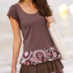 Volánové šaty s krátkými rukávy