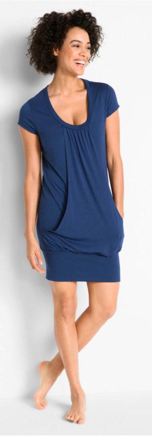 Wellness šaty vpředu dvouvrstvého vzhledu