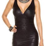 Černé bandážové šaty