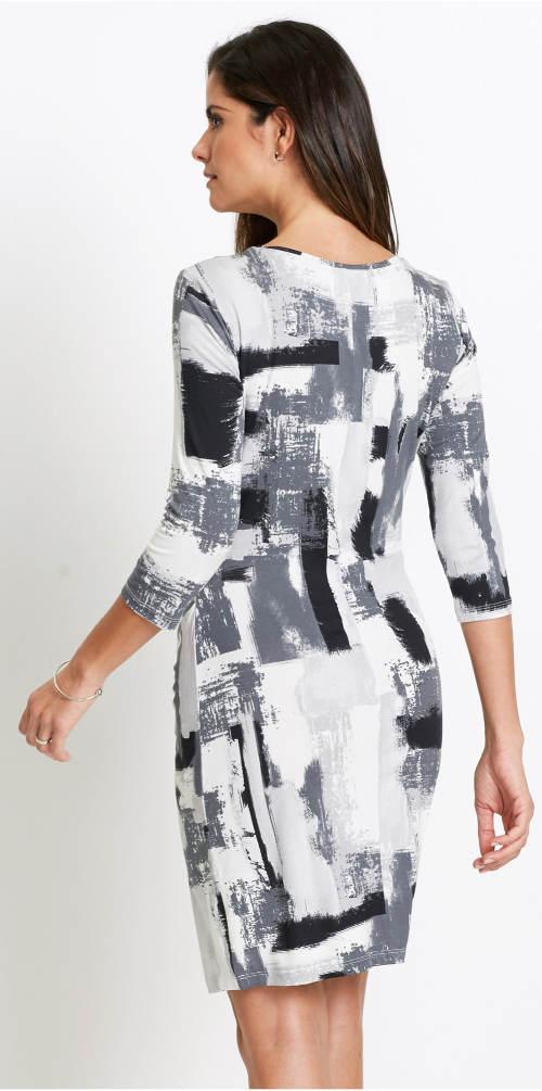 Černobílé přiléhavé šaty