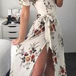 Dlouhé bílé dámské šaty se spadlými ramínky