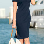 Letní šaty s límečkem pro plnoštíhlé