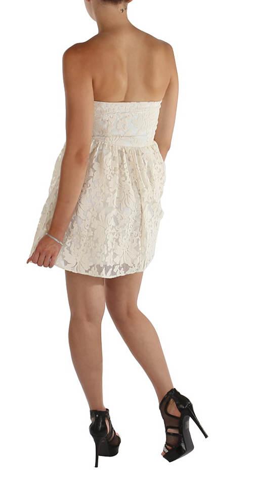Letní společenské šaty s krajkou