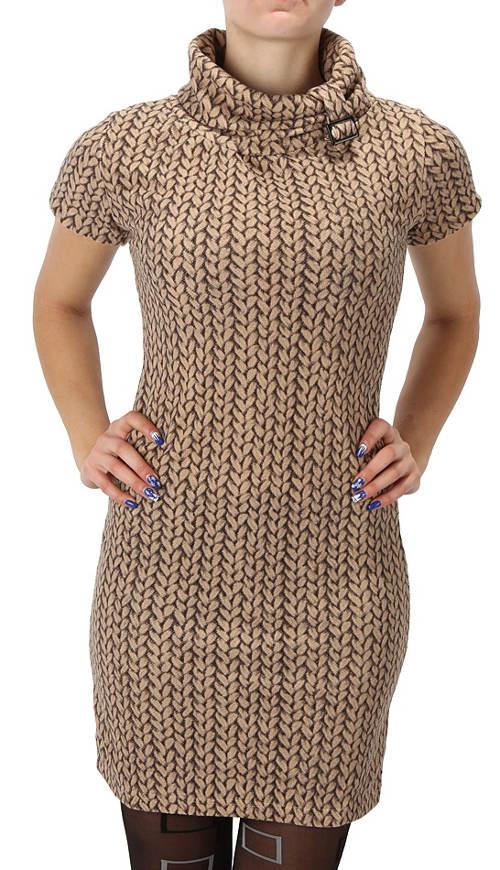 Levné svetrové šaty s rolákem