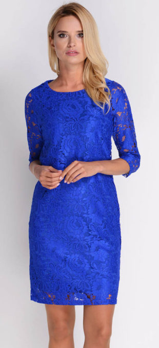 Luxusní krajkové šaty pouzdrového střihu