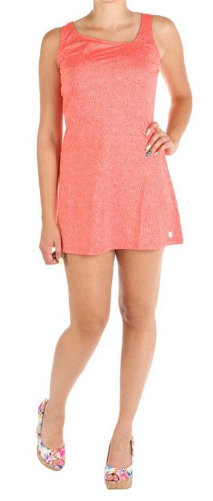 Růžové volnočasové krátké šaty
