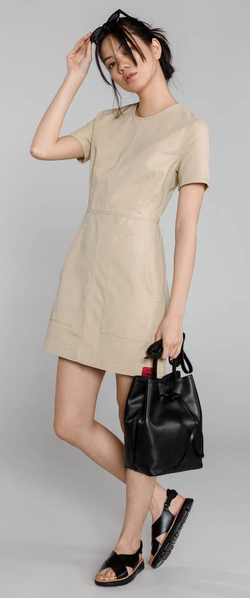 Béžové dámské šaty Calvin Klein