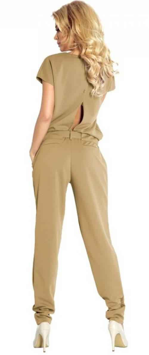 Béžový kalhotový kostým