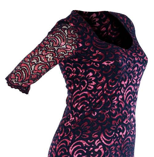 Celokrajkové společenské šaty pro plnoštíhlé