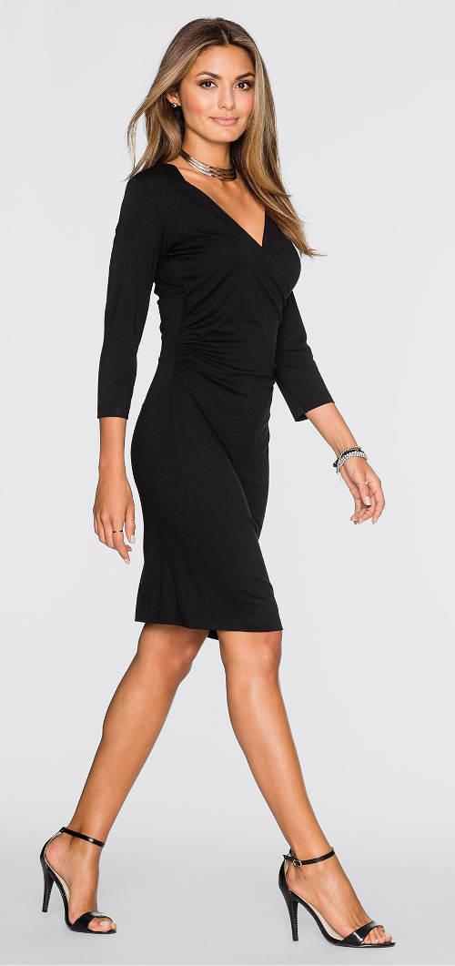ffa010e7aa53 Černé kratší společenské šaty