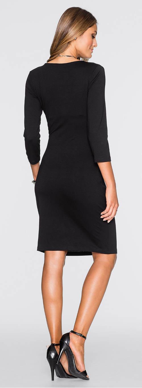 Černé šaty z lehké viskózy