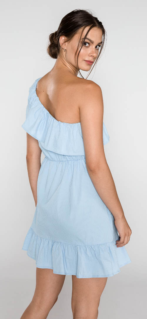 Lehounké šaty na jedno rameno
