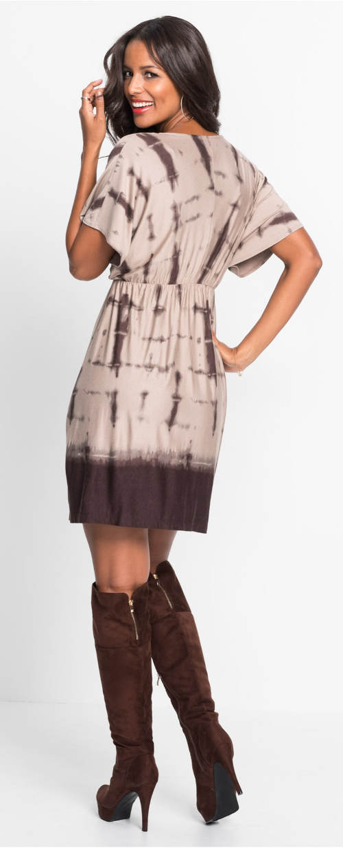 Levné dámské batikované šaty