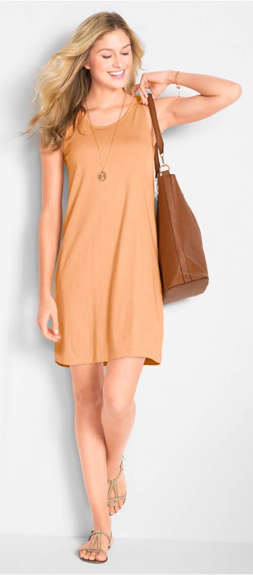 Oranžové lehké letní šaty