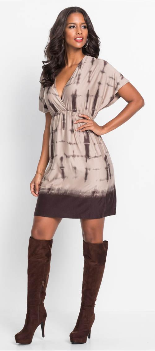 Podzimní šaty ke kozačkám