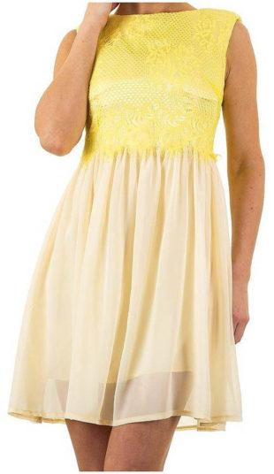 Pohodlné žluté letní šaty Iclothing