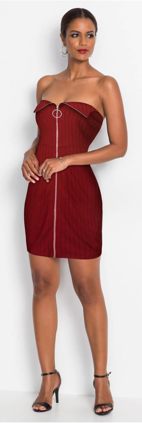 Společenské šaty s celorozpínacím předním zipem