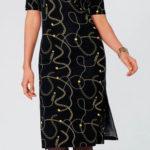 Společenské šaty pro starší s řetízkovým potiskem