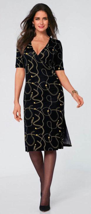 c61ac858fe51 Společenské šaty pro starší s řetízkovým potiskem