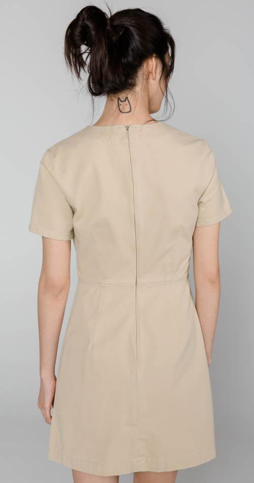 Světlé džínové šaty Calvin Klein