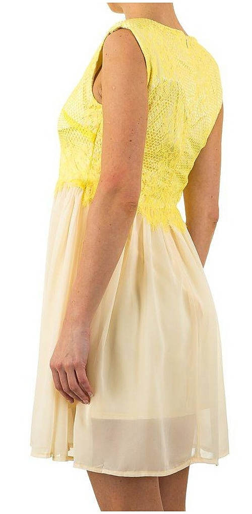 Žluto-béžové lehounké šaty