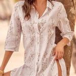 Bílá dámská plážová košile