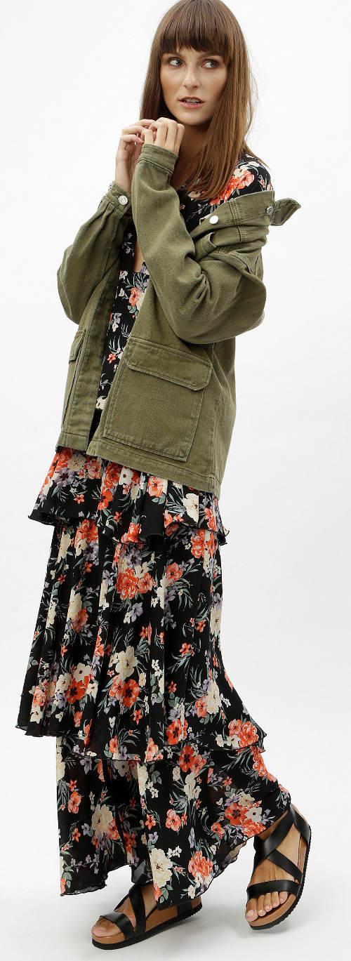 Dámské podzimní maxi šaty